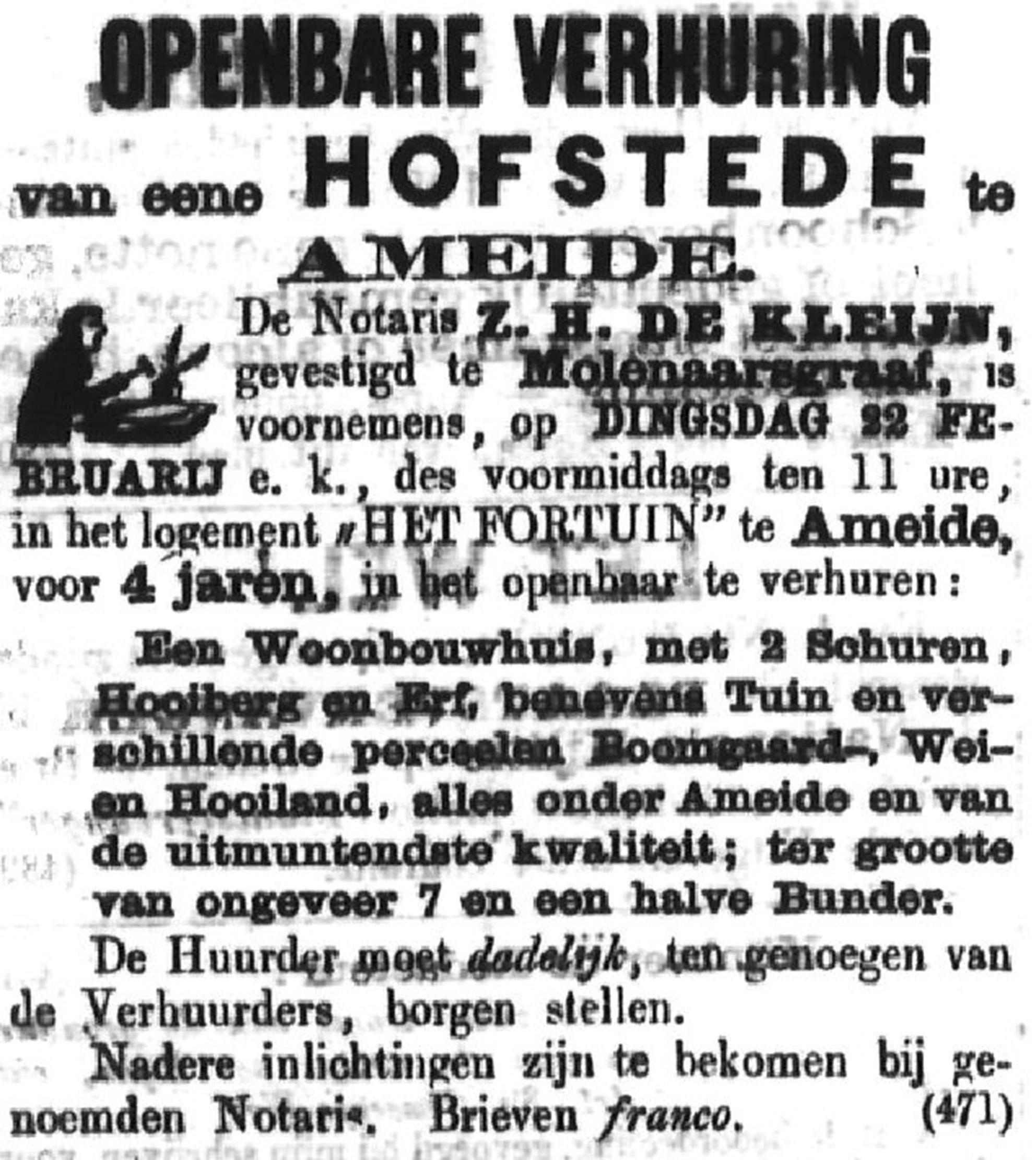 Schoonhovensche Courant 00034 1870-02-20 artikel 1