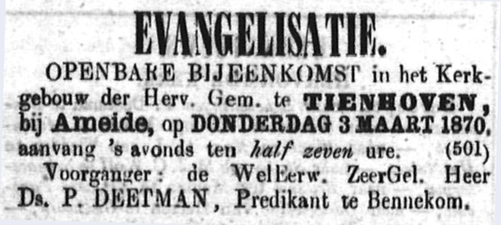 Schoonhovensche Courant 00035 1870-02-27 artikel 1