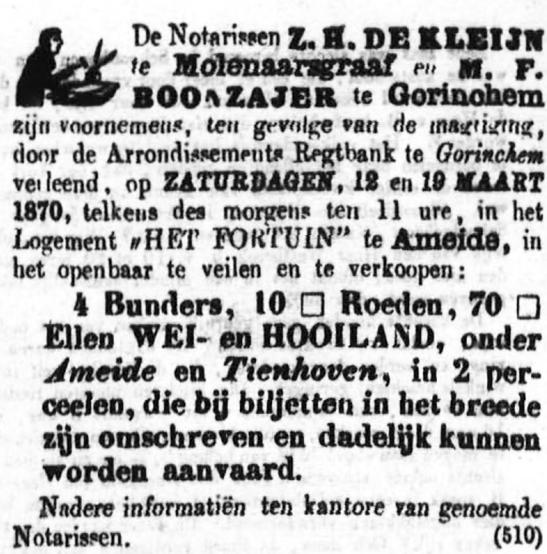 Schoonhovensche Courant 00036 1870-03-06 artikel 1