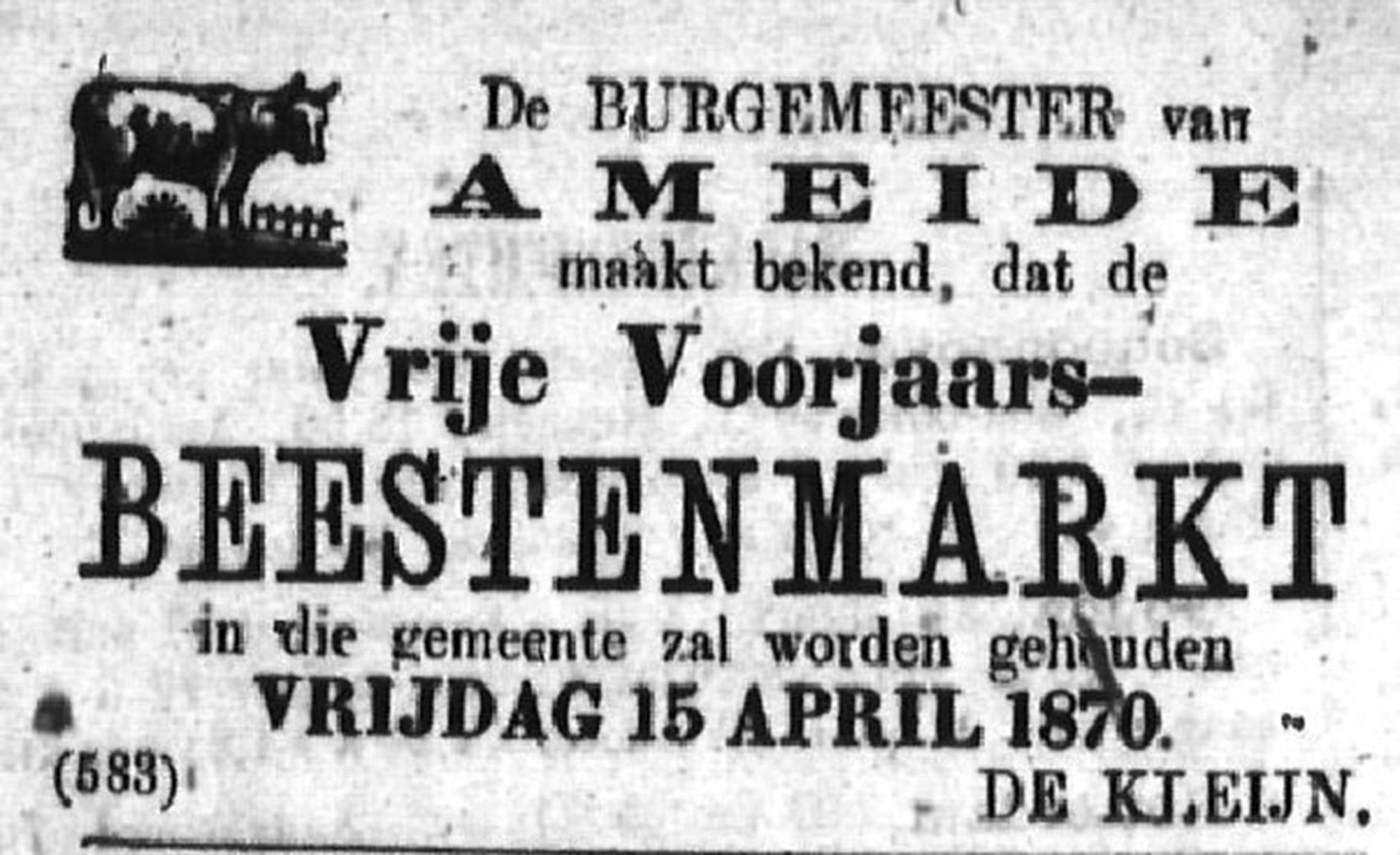Schoonhovensche Courant 00039 1870-04-03 artikel 1