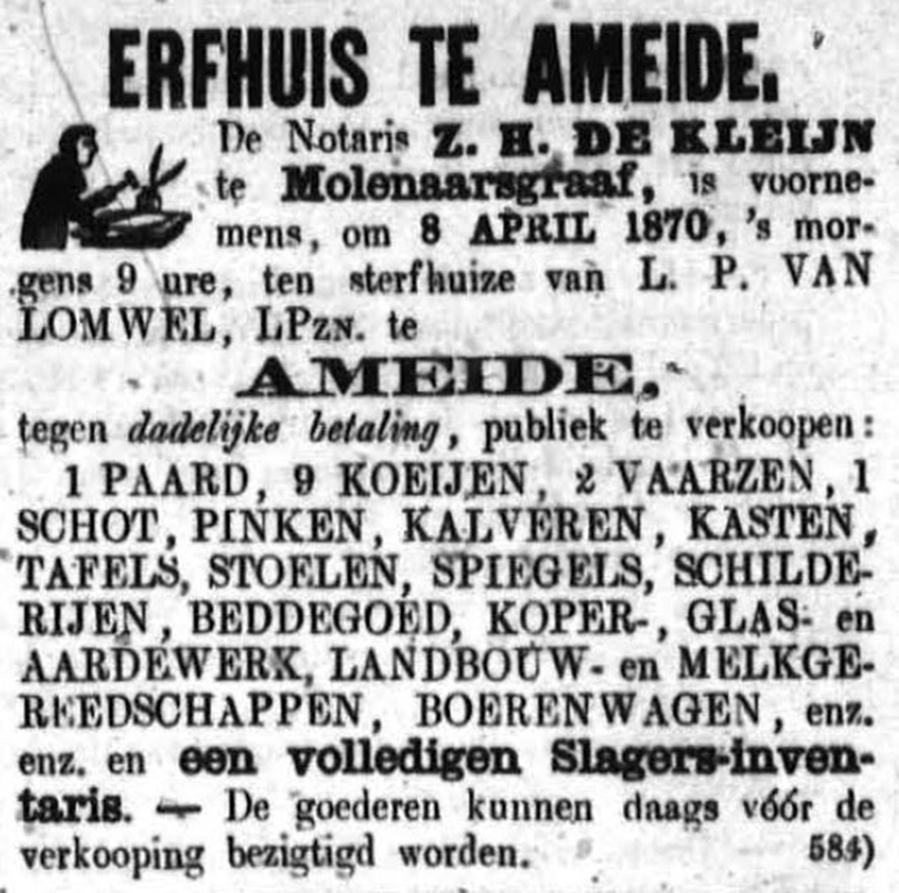 Schoonhovensche Courant 00040 1870-04-03 artikel 2
