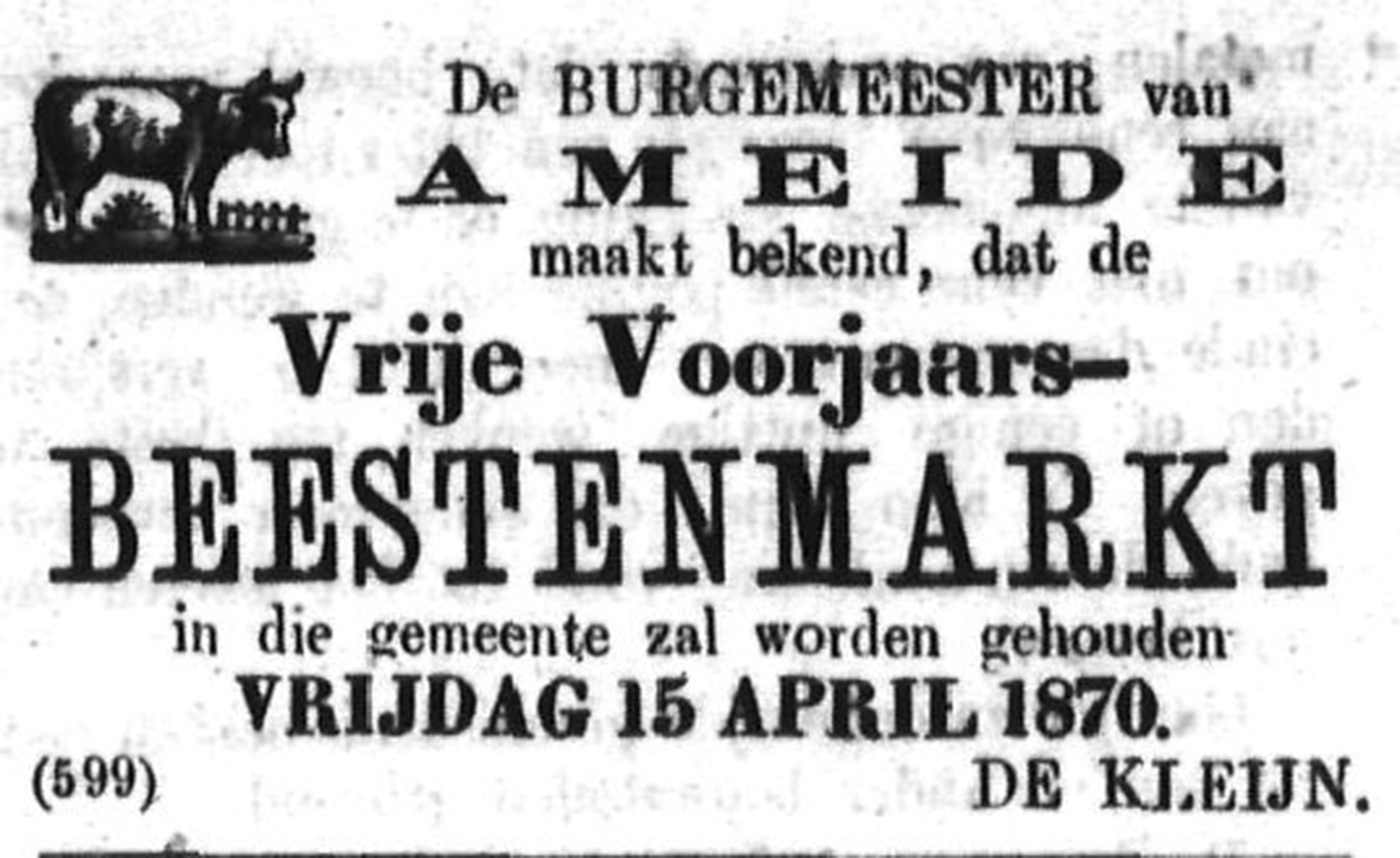 Schoonhovensche Courant 00041 1870-04-10 artikel 1