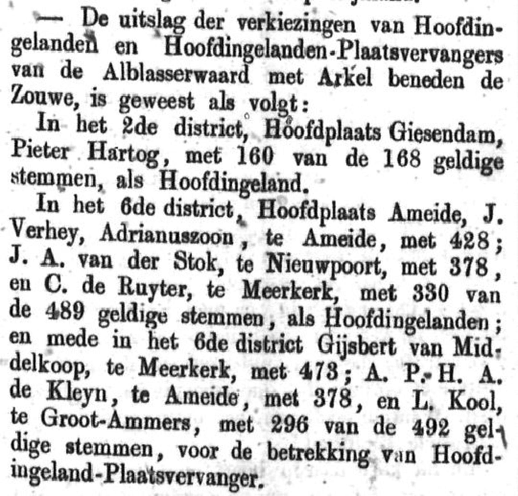 Schoonhovensche Courant 00042 1870-04-17 artikel 1