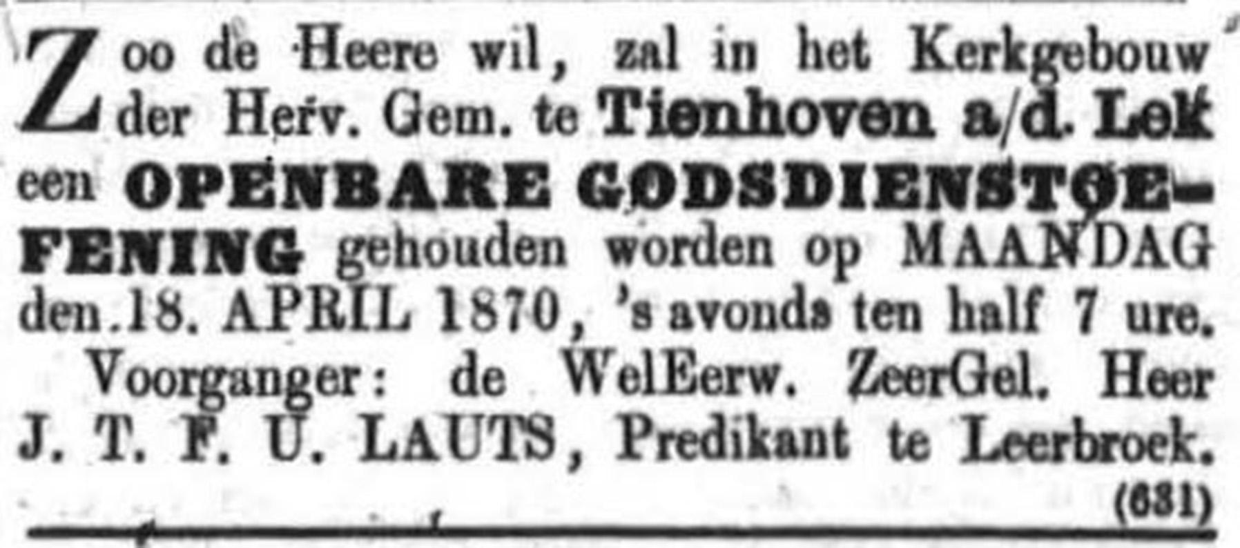 Schoonhovensche Courant 00042 1870-04-17 artikel 2