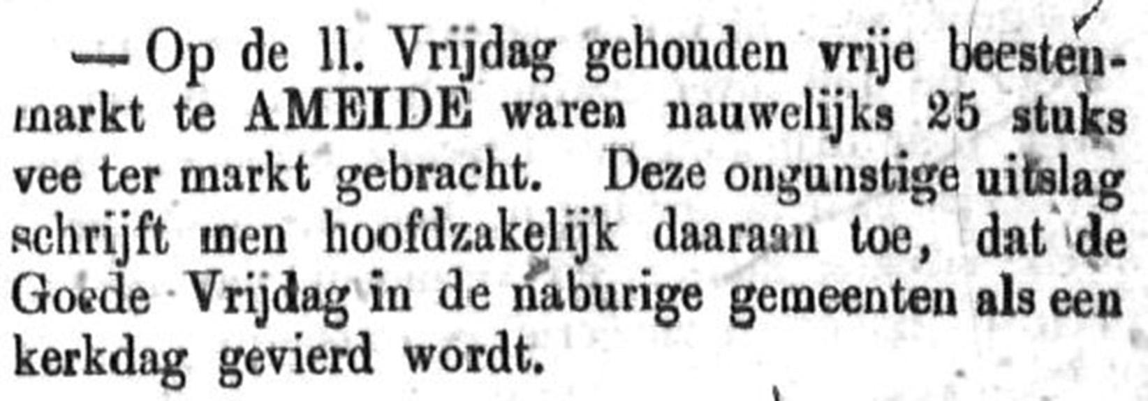 Schoonhovensche Courant 00043 1870-04-24 artikel 1