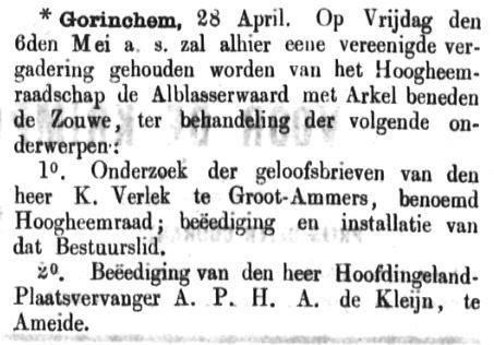 Schoonhovensche Courant 00044 1870-05-01 artikel 1