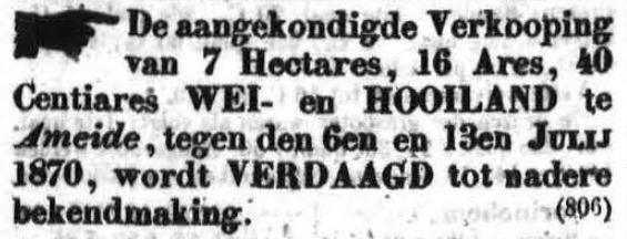 Schoonhovensche Courant 00052 1870-06-26 artikel 1