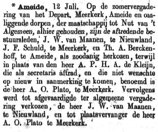 Schoonhovensche Courant 00055 1870-07-17 artikel 1