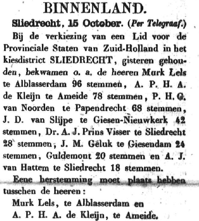 Schoonhovensche Courant 00068 1870-10-16 artikel 1