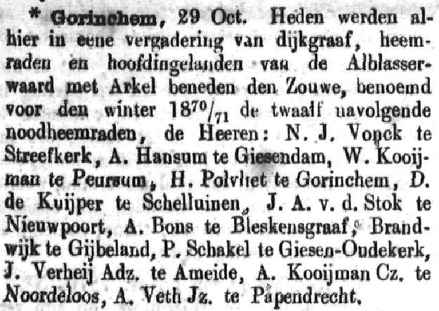 Schoonhovensche Courant 00071 1870-11-06 artikel 1