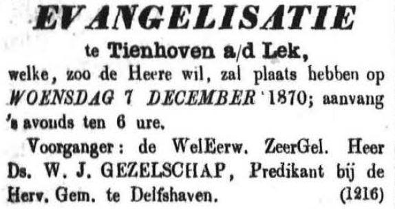 Schoonhovensche Courant 00075 1870-12-04 artikel 1