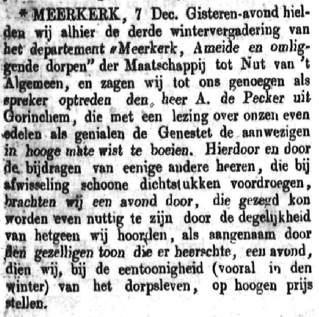 Schoonhovensche Courant 00076 1870-12-11 artikel 1