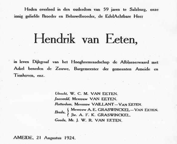 advertentie Van Eeten