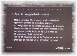 close up plaque Tienhoven church soft edge
