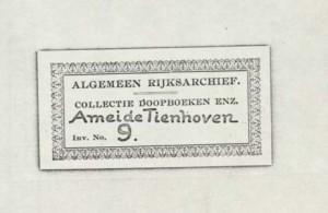 Ameide DTB 09 index op naam van overledenen. 1730-1811