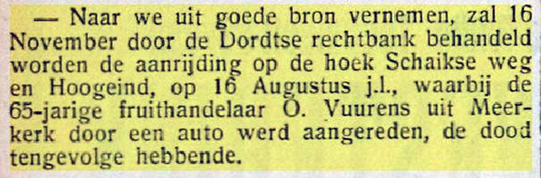 Knipsel Nieuwsblad Gorinchem 16-11-1934