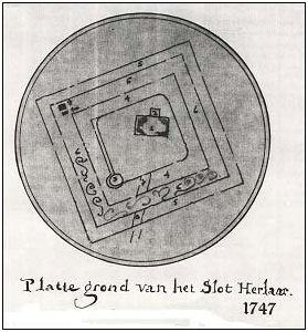 plattegrond Herlaer 1747