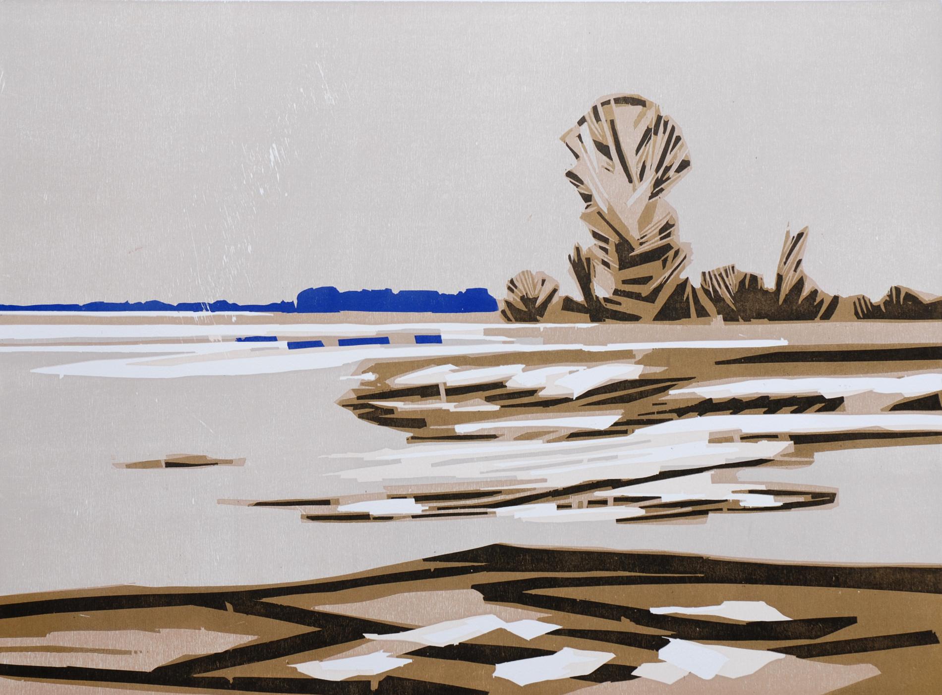 Frank Dekkers Dooi 2012 houtsnede 65 x 88 cm