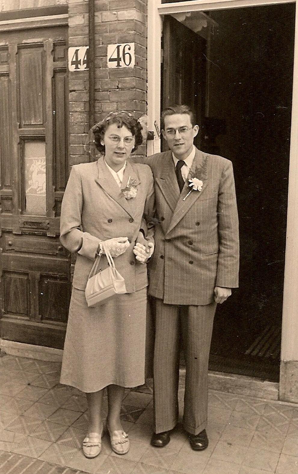 Jan en Dirkje de Lange-van Bruggen (op 13-05-1953) bewerkt