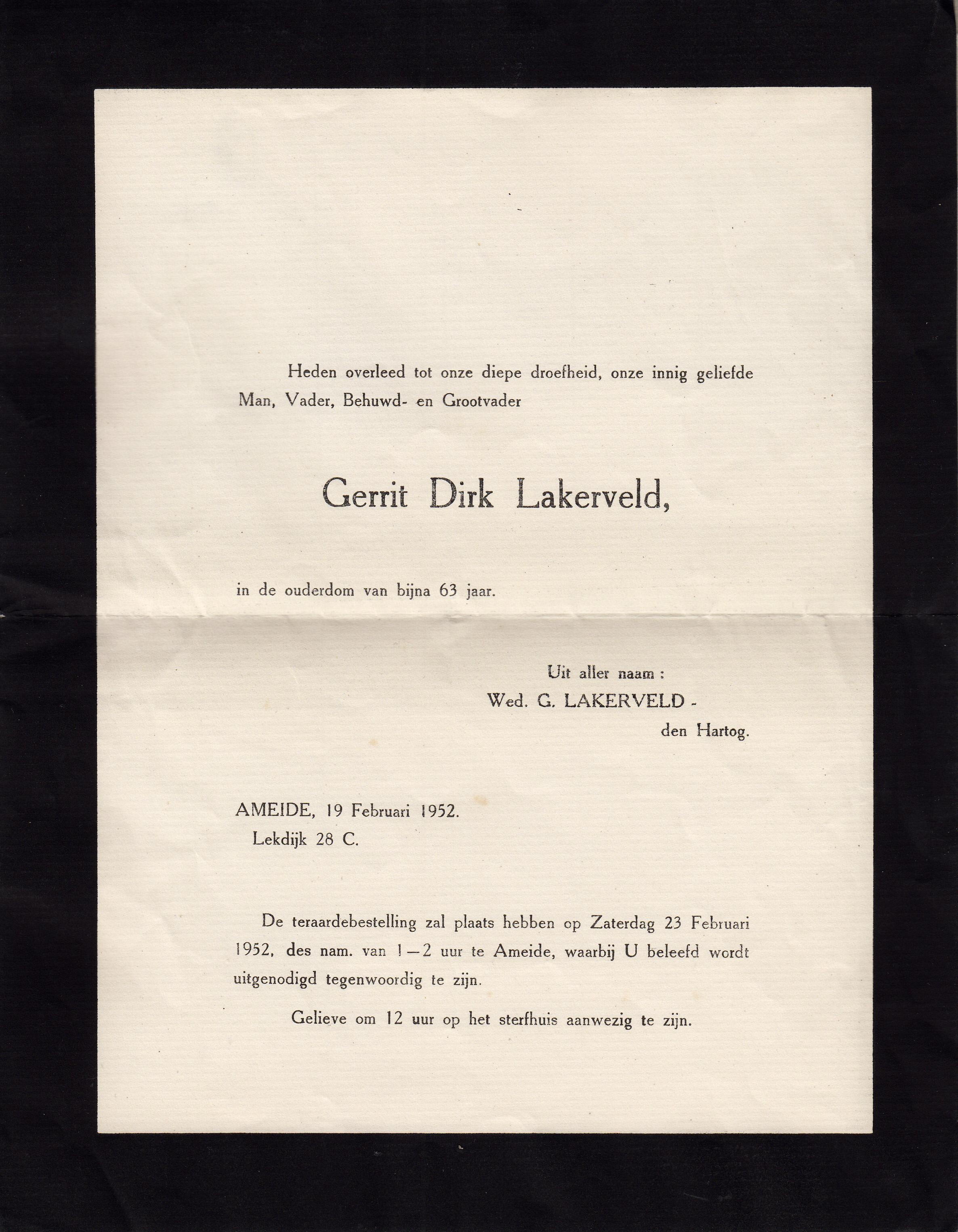 Gerrit Dirk Lakerveld