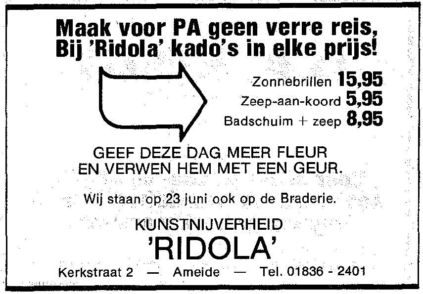 Knipsel Wegwijzer 1984-06-14
