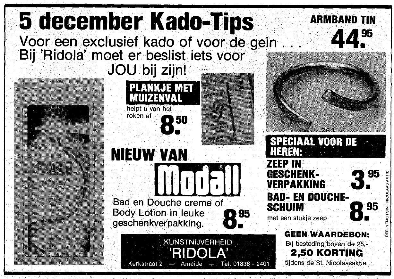 Knipsel Wegwijzer 1984-11-15